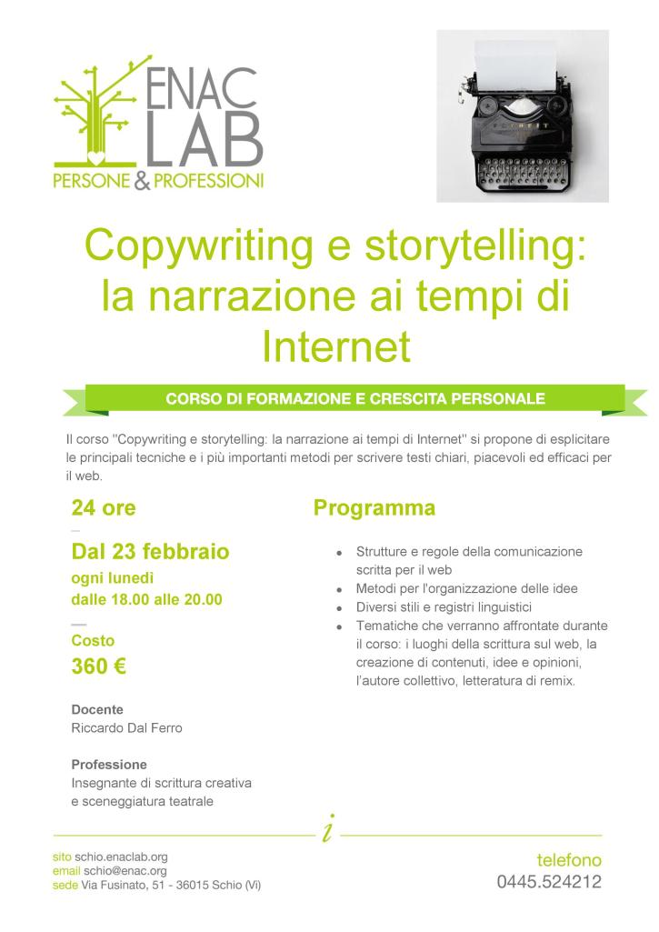 Corso Copywriting ENAC Schio