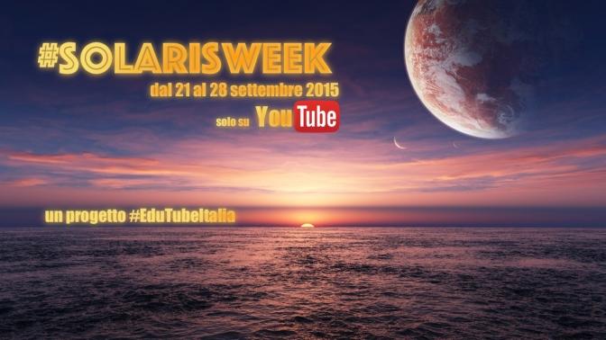 #SolarisWeek