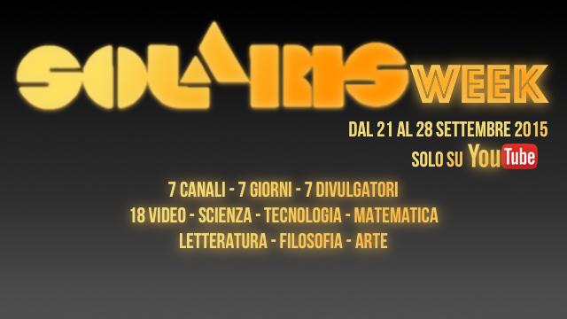 #SolarisWeek – programma e calendario