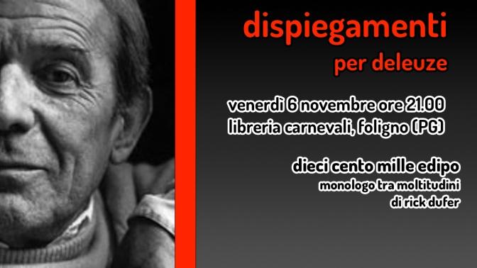 Dispiegamenti – 6 novembre a Foligno