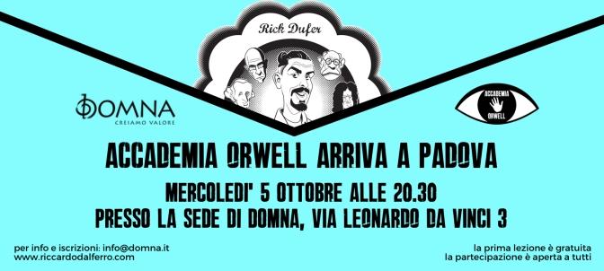 Accademia Orwell arriva a Padova!
