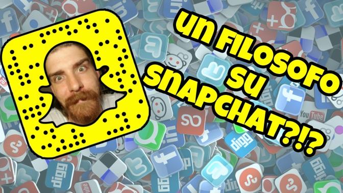 Un Filosofo su Snapchat?!?