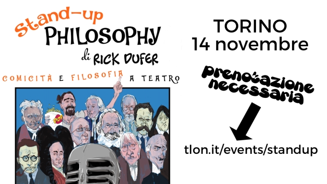 TORINO – Stand-Up Philosophy, 14 novembre